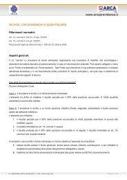 www.arcaprevidenza.it Scivolo: che prestazioni e quale fiscalità