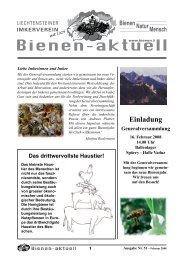 Bienen-aktuell Nr. 51 - Liechtensteiner Imkerverein