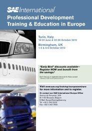 Turin, Italy 18-22 June & 22-26 October 2012 Birmingham, UK ... - SAE