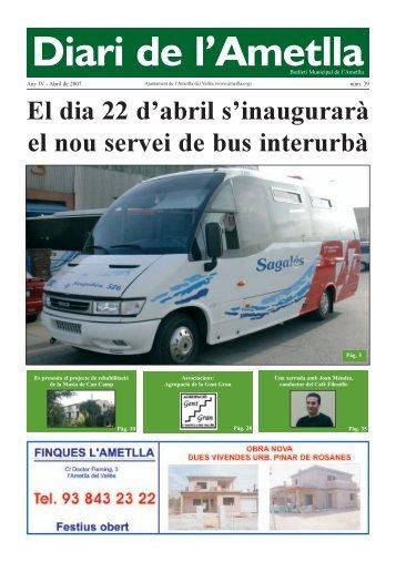 Diari Abril de 2007 - Ajuntament de L'Ametlla del Vallès