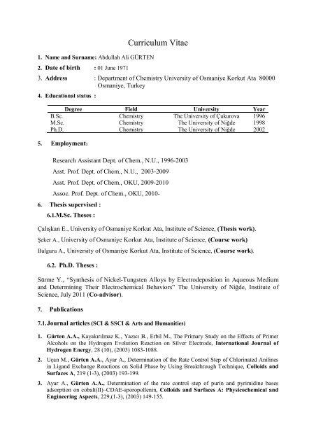 Ali GÃœRTEN Ä°ngilizce 10_02_2012 pdf - Osmaniye Korkut Ata