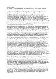 Lucas Gehrmann The Story of … . Oder: Christiane Spatt, eine ...