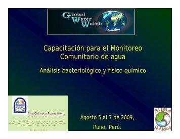 Capacitación para el Monitoreo Comunitario de agua - Global Water ...