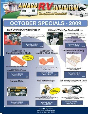 october 2009 retail specials - Award RV Superstore