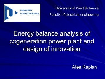 Energy balance analysis of cogeneration power plant and ... - JINR