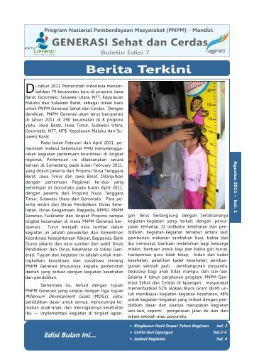 Indonesia 7th Edition Generasi Newsletter - psflibrary.org