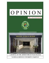 OPINION Vol.1, No.1 June 2013 - National Defence University