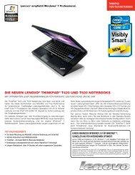 Die neuen Lenovo®  ThinkPaD® T420 unD T520 noTebooks