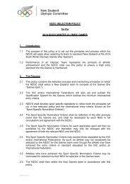 2014 Sochi Selection Policy. v4 - Snow Sports New Zealand