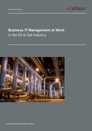 Business IT Management at Work in the Oil & Gas Industry - Alfabet