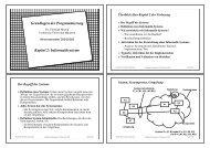 Grundlagen der Programmierung Kapitel 2 - Technische Universität ...