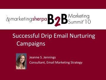 Successful Drip Email Nurturing Campaigns - MarketingSherpa