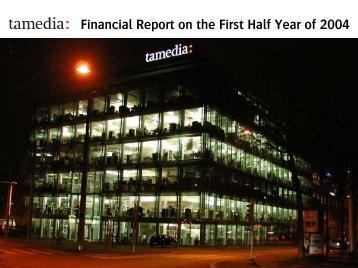 Half Year Result 2004 - Tamedia
