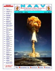 NAAV Annual dues are…………. - National Association of Atomic ...