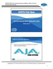 SMPTE PDA Now AUTOSTEREOSCOPIC DISPLAYS - SAS-Origin