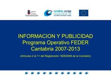 Información y Publicidad del Programa Operativo FEDER de ...