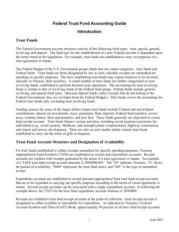 Federal Trust Fund Accounting Guide - Financial Management ...