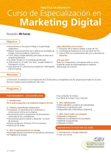Marketing Digital - CEV