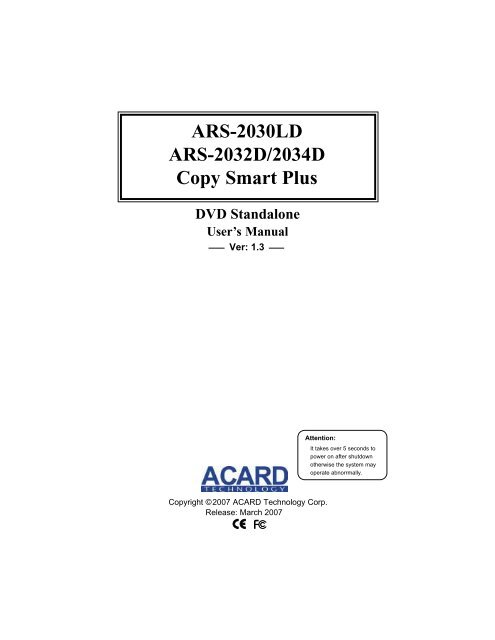 NEW DRIVER: ACARD ARS-2032D