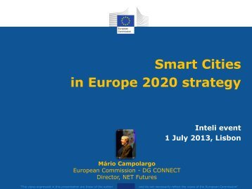 Smart Cities in Europe 2020 strategy - inteli