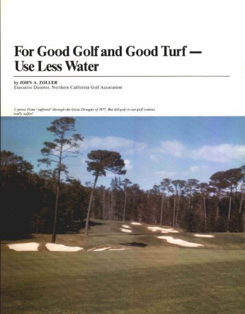 For Good Golf and Good Turf - USGA Green Section Record