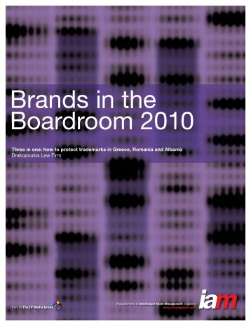 Brands in the Boardroom -- IAM 2010 - Drakopoulos Law Firm