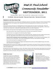 September 2011 Newsletter - Seven Oaks School Division