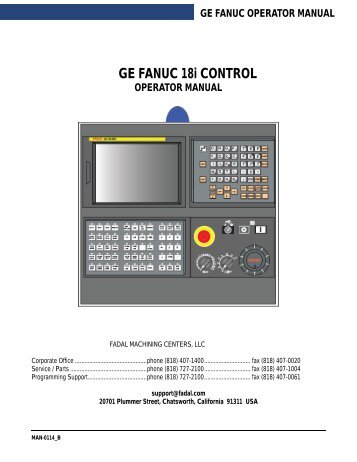 ge fanuc operator manual - Compumachine