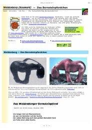 Internet-Seite über das Pferdchen - Dobiegniew / Woldenberg