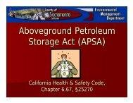 APSA - Environmental Management Department, Sacramento County