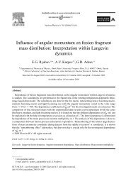 Influence of angular momentum on fission fragment mass ... - Nrv Jinr