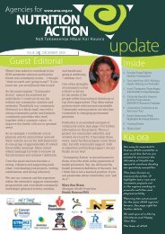 Quarterly newsletter: December 2009 - Agencies for Nutrition Action