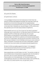 Rede im Hessischen Landtag zur Einbringung des Hessischen ...