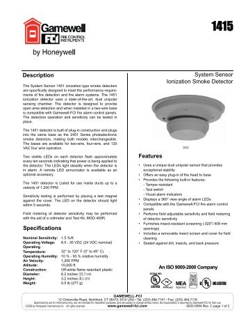 system sensor ionization smoke detector gamewell fci?quality\\\\\\\=85 gamewell if610 wiring diagram gamewell if610 installation manual gamewell pid 95 wiring diagram at bakdesigns.co