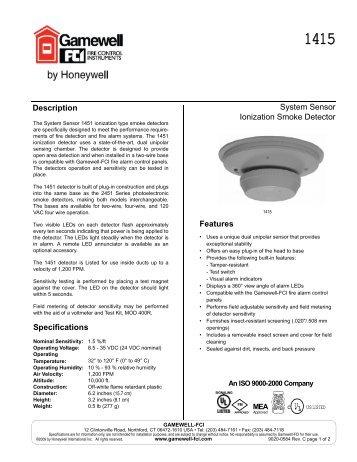 system sensor ionization smoke detector gamewell fci?quality=85 innovairflex�\u201e� series duct smoke detector gamewell fci system sensor beam detector 1224 wiring diagram at bayanpartner.co