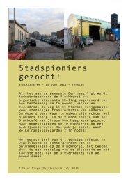 Download verslag van deze avond - Stroom Den Haag