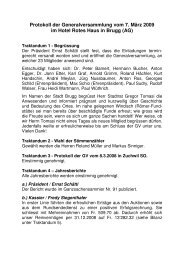 Protokoll, datiert vom 31. März 2009 - Schweizerischer Ganzsachen ...