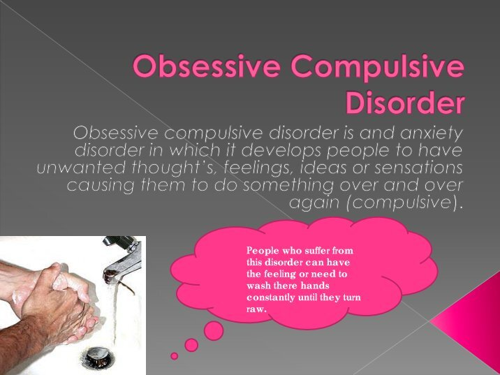 characteristics and therapy of obsessive compulsive disorder ocd Obsessive compulsive disorder (ocd) and related disorders affect more than 1 in 100 people around the world — but there is hope learn about treatment, research, and other resources that can help about ocd related disorders for families.