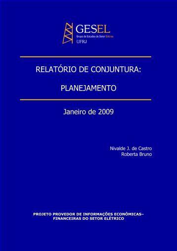 projeto provedor de informações sobre o setor elétrico - Nuca - UFRJ