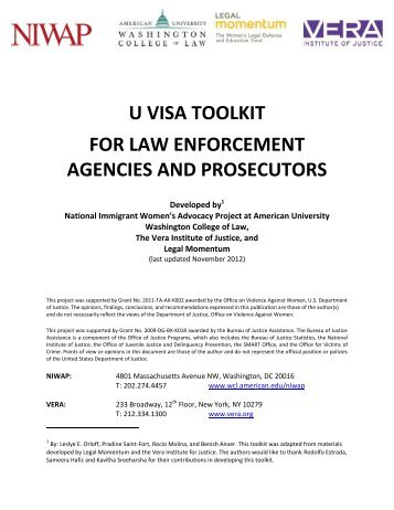DHS U Visa Law Enforcement Certification Guide - National Center ...