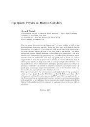 Top Quark Physics at Hadron Colliders - Universität Bonn