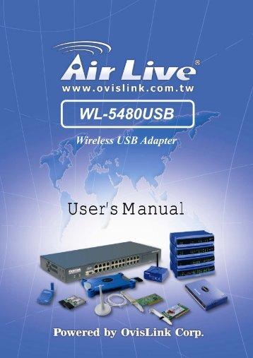 AirLive WL-5480USB Manual