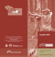 Soutěže 2007 - České Švýcarsko
