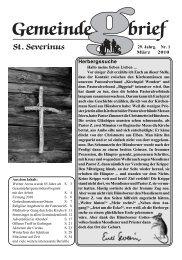 Download Gemeindebrief Nr. 1/2010 - Pastoralverbund Wendener ...