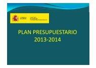 resumen plan presupuestario 2013-2014 - Ministerio de Hacienda y ...