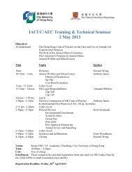 IACUC/AEC Training & Technical Seminar 2 May 2013