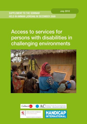 Access to services for persons with disabilities in challenging ...