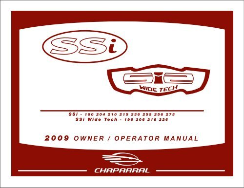 2009 OWNER / OPERATOR MANUAL - Chaparral Boats Owners ClubYumpu