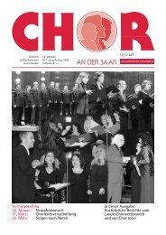 Aus dem Chor - Saarländischer  Chorverband