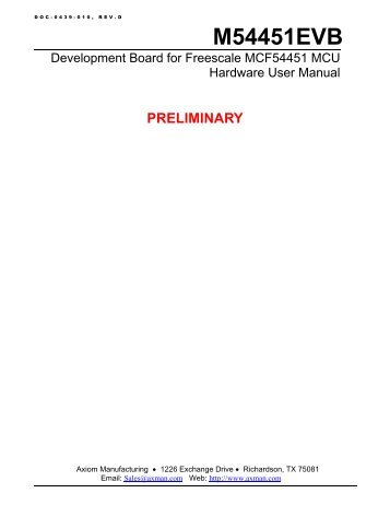 M54451EVB Hardware User Manual